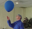 man with a balloon