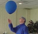 man with a balloon