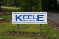 Keele University sign