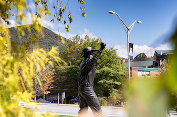 statue on campus